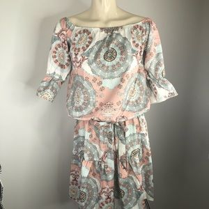 NWT CBR Exclusive Selection pastel GRAPHIC dress M
